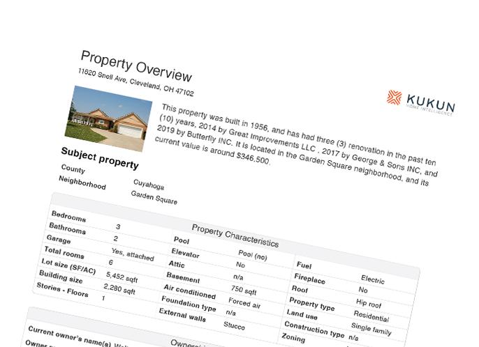 HomeReport sample page