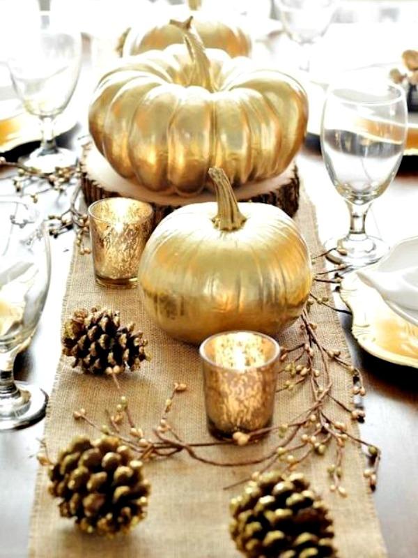 Thanksgiving metalic decor