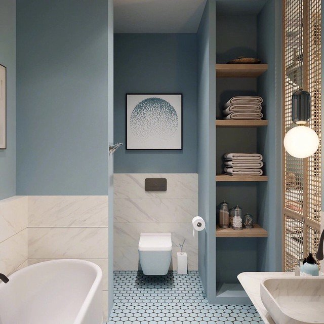 How To Select The Perfect Bathroom Colors For Walls And Cabinets
