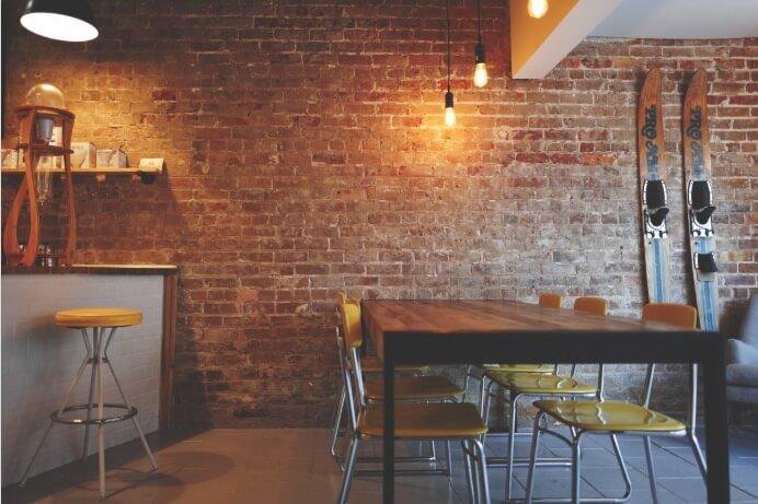 industrial dining room