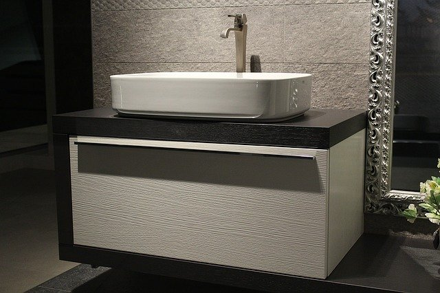 semi recessed sink