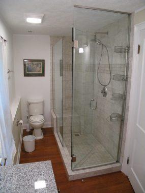Bathroom glass panel