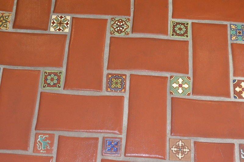 terracota floor tiles