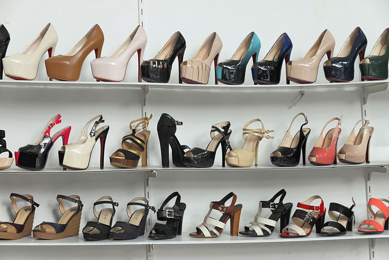 Shoes in display