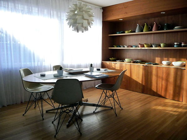 floating shelves dining room