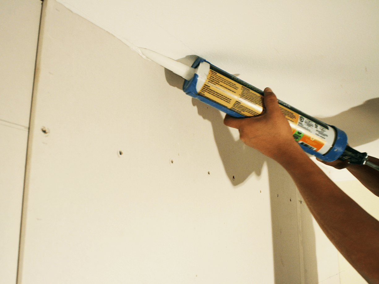 acoustic sealant to seal gaps in walls