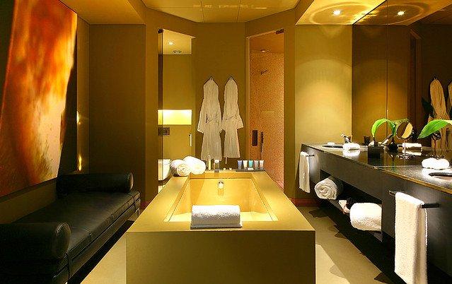 Spa in bathroom