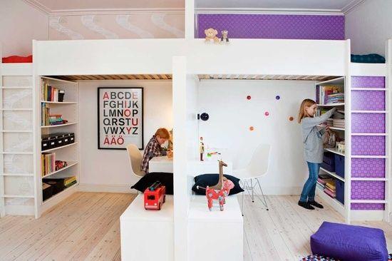 loft beds in kids room