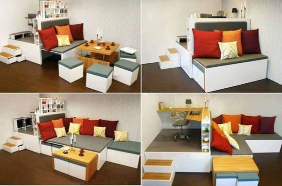 multi-purpose couch in living room