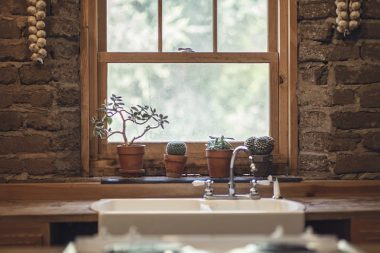 Natural wooden windows