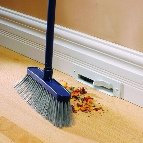 Vacuuming Baseboards
