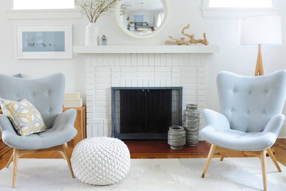 Turn your fireplace into a focal point of your home kukun - How to make a brick fireplace look modern ...