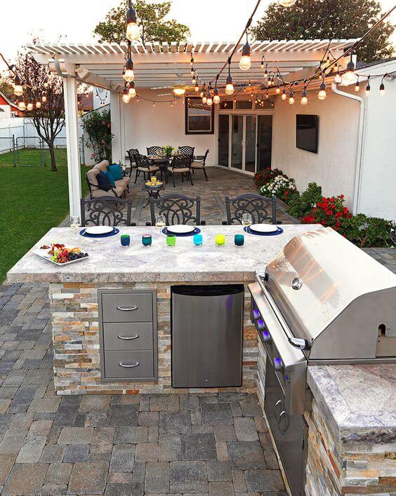 backyard with bbq