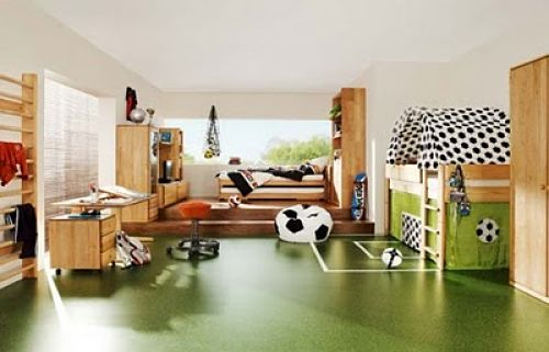 sports theme boys room
