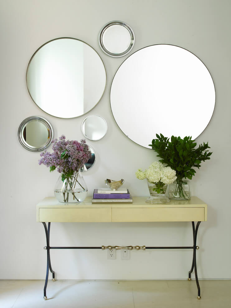 mirror decor ideas in hallway