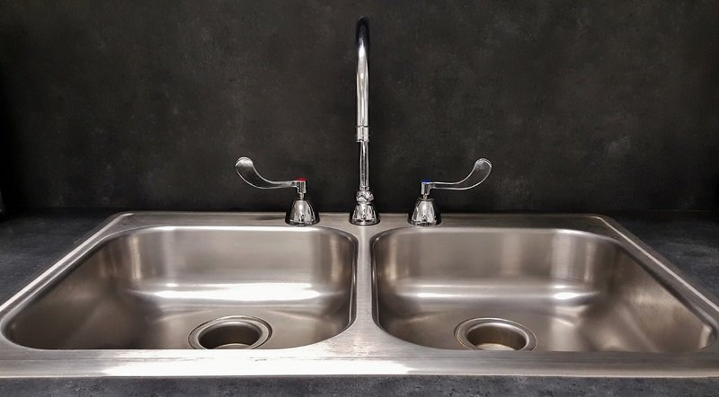 double basin kitchen sink