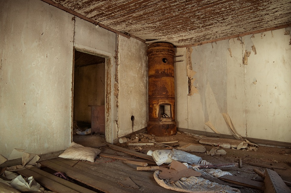 Old Broken Abandoned House Vintage Dirty Room