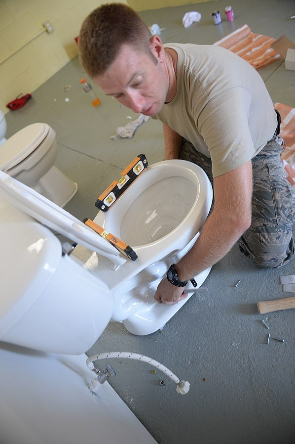 Setting up a toilet