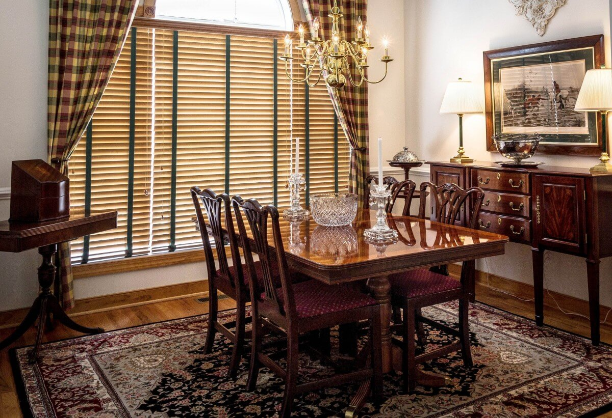 Persian Rug in Dining Room