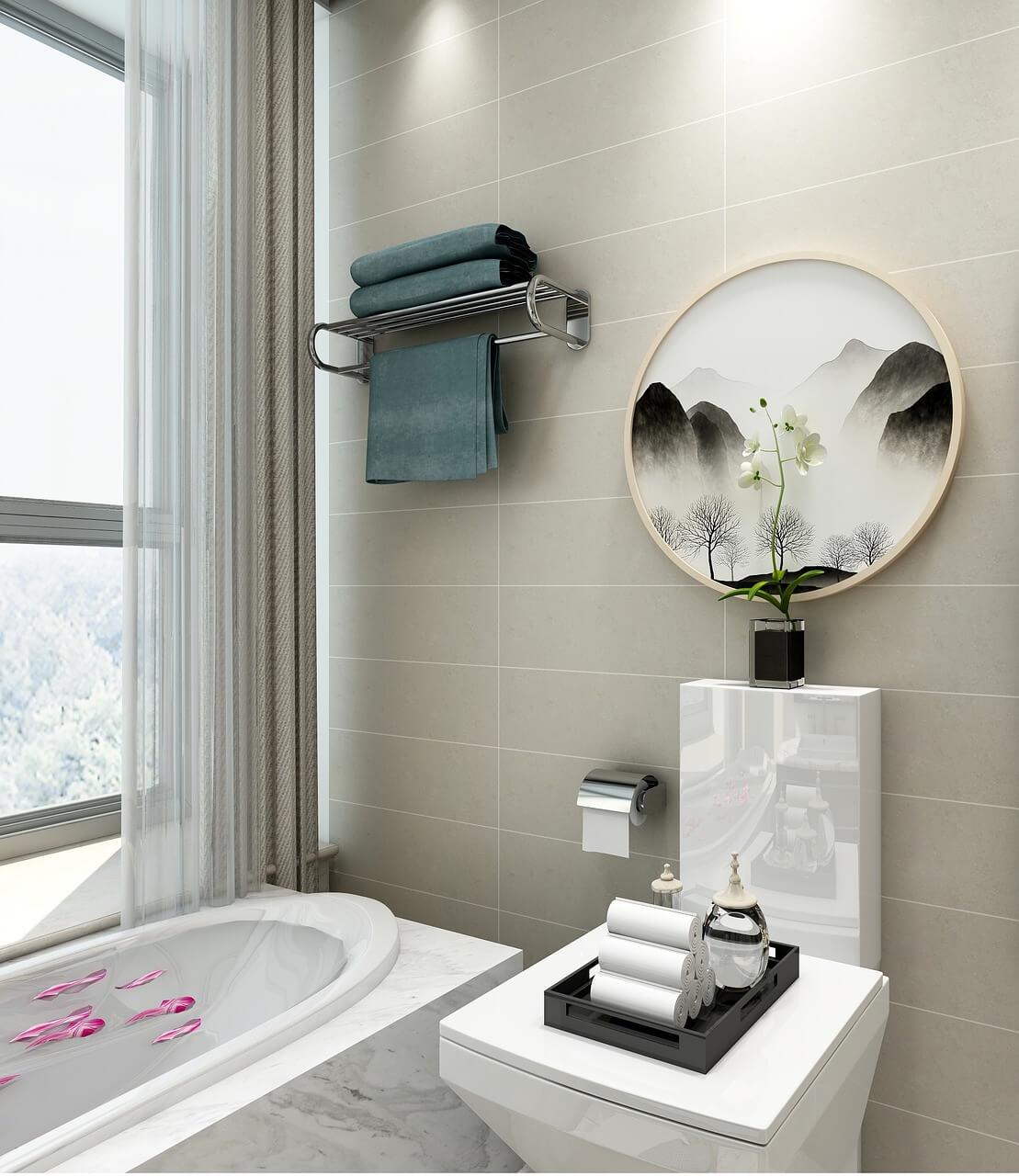 bathroom plants decor