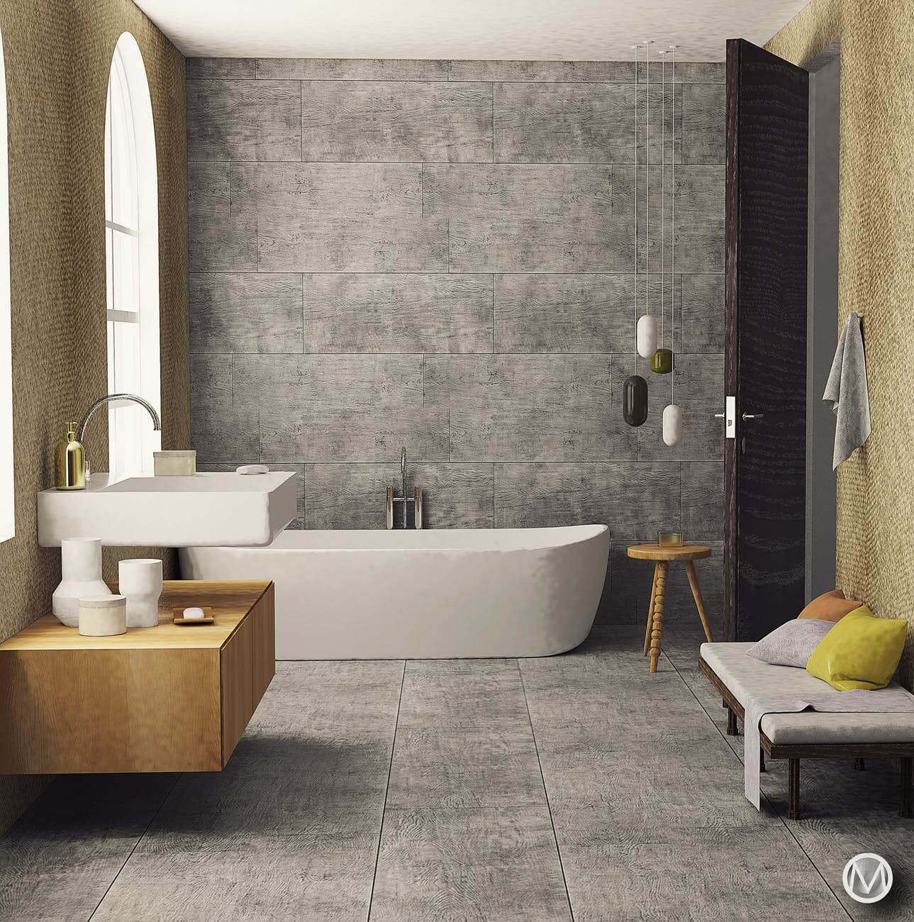 feng shui colours for bathroom
