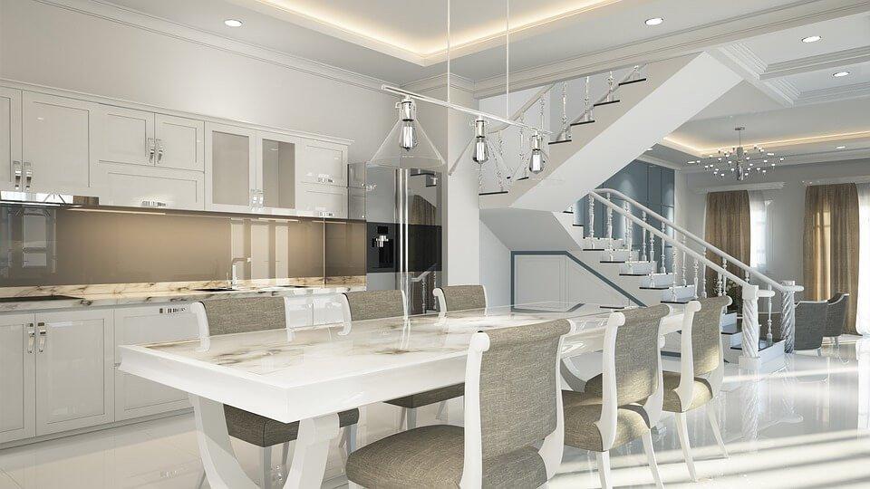 Luxury-kitchen-marble-flooring
