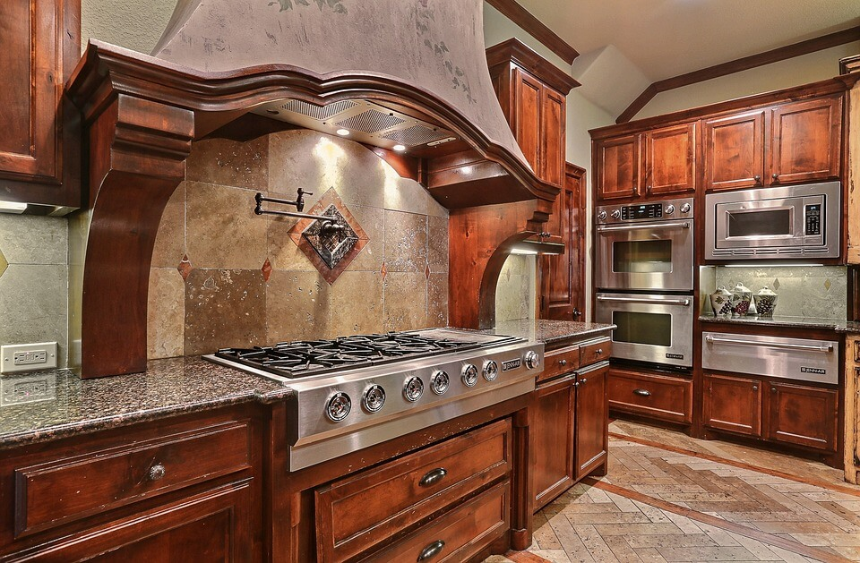 stainless metal appliances