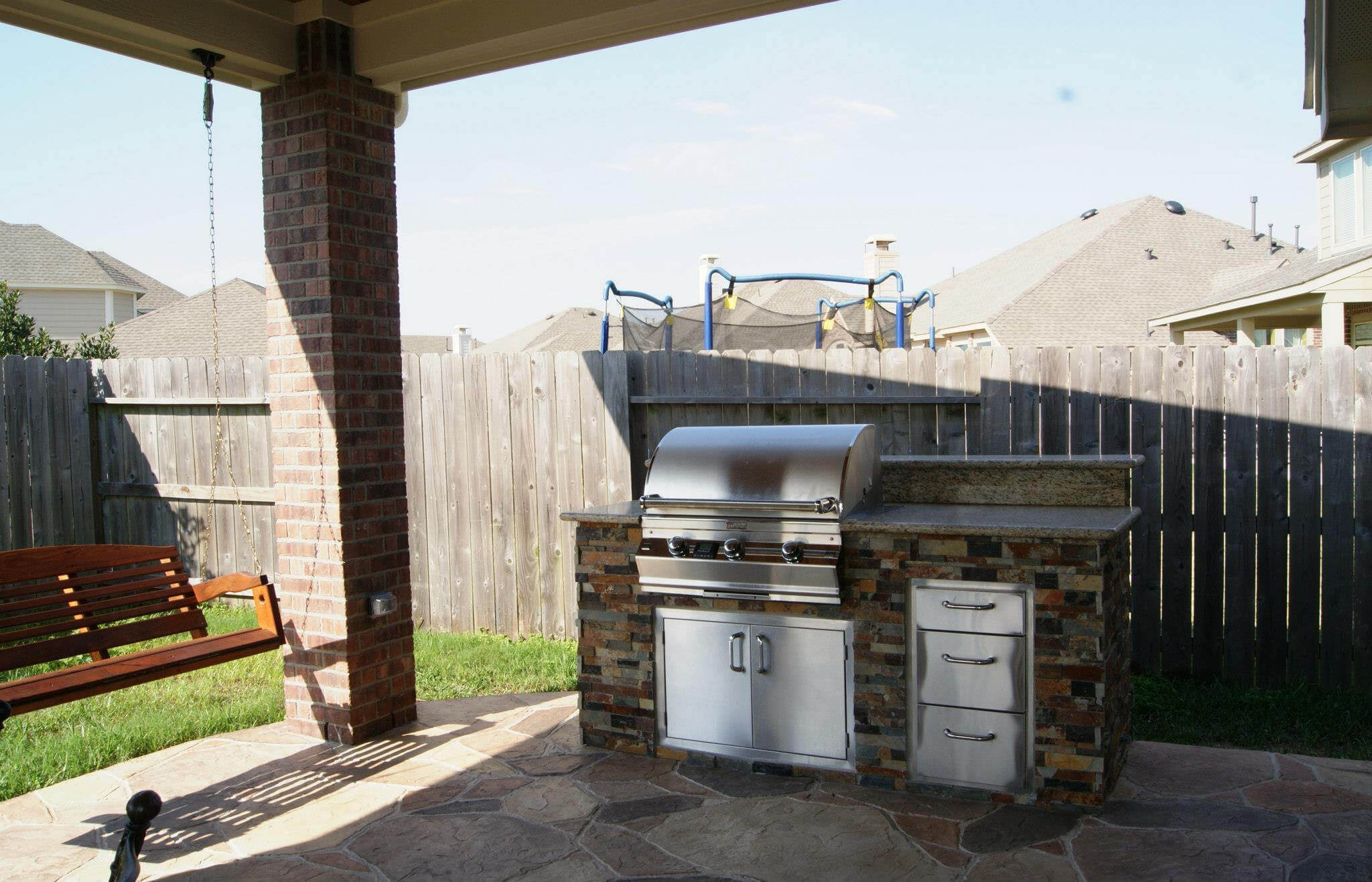 simple budget outdoor kitchen