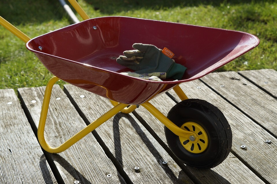 Wheelbarrow for gardening