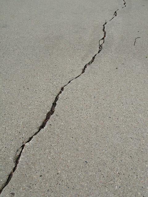 cracked floor