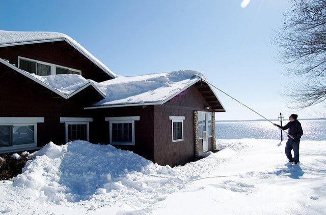 ice dam snow rake