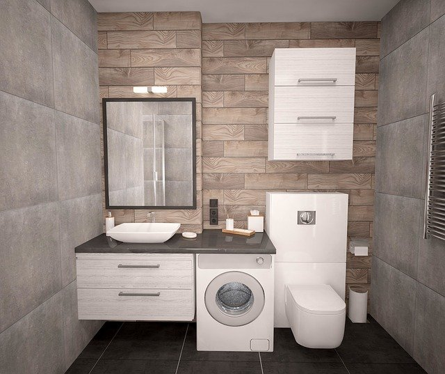 inbuilt bathroom cabinets