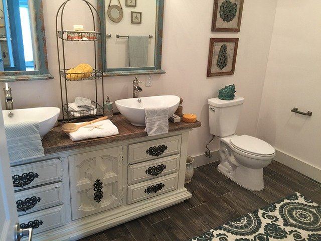 tiered bathroom baskets