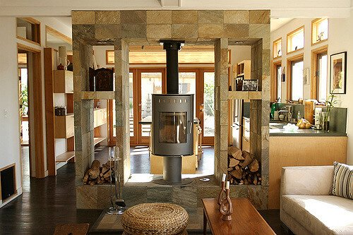 rotating fireplace