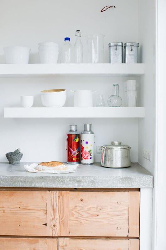 floating kitchen shelves