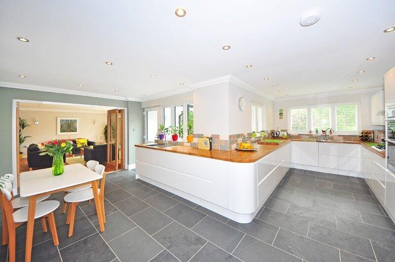 grey kitchen floor tiles
