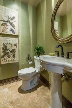 green small half bathroom