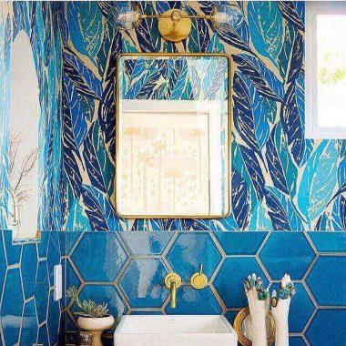 glossy small half bathroom