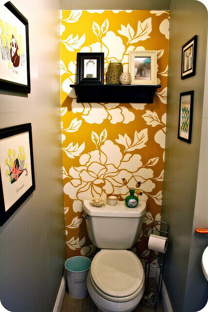 wallpaper half bathroom