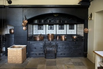wooden french kitchen