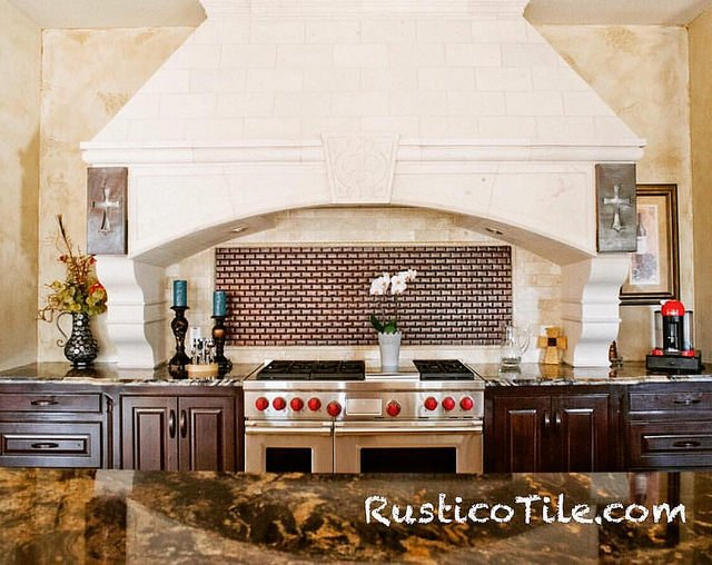 tiled french kitchen