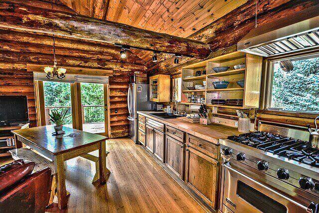 cabin style kitchen