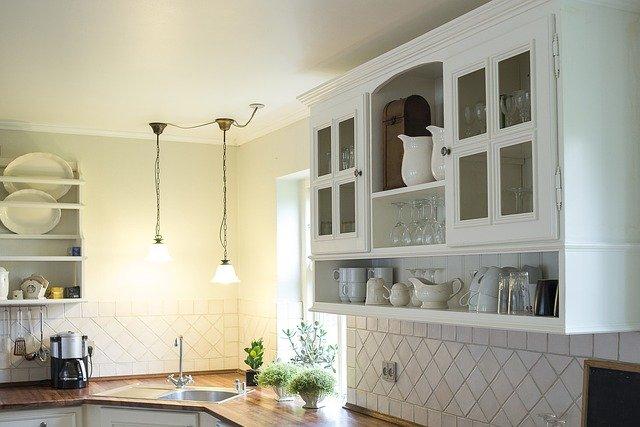 mullion kitchen cabinet