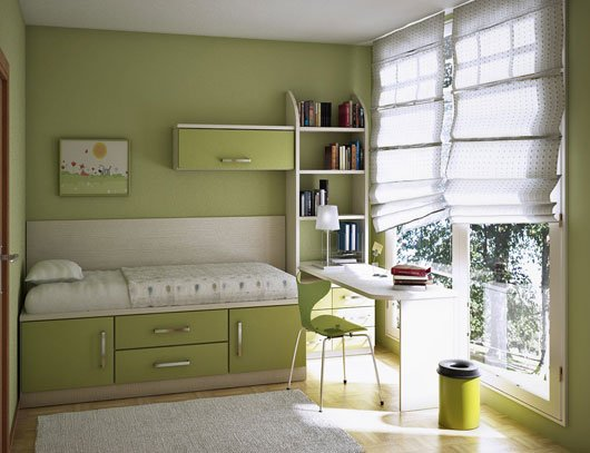 green kids room colors