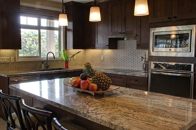 Stained Wood Cabinets
