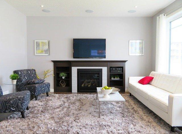 living room fixtures layout