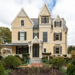Gothic Revival Victorian House Makeover Exterior Paint Project In Newton MA