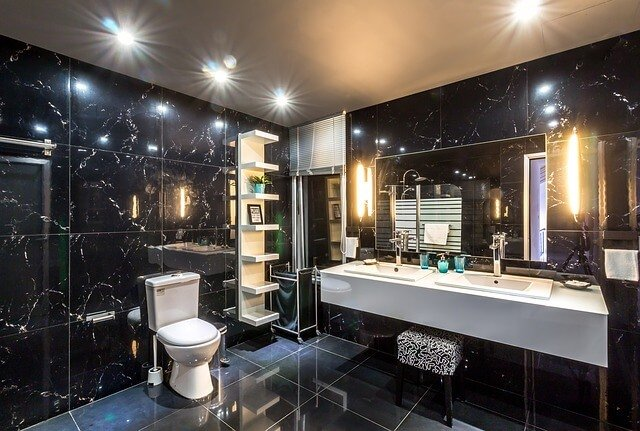 stylish jack and jill bathroom