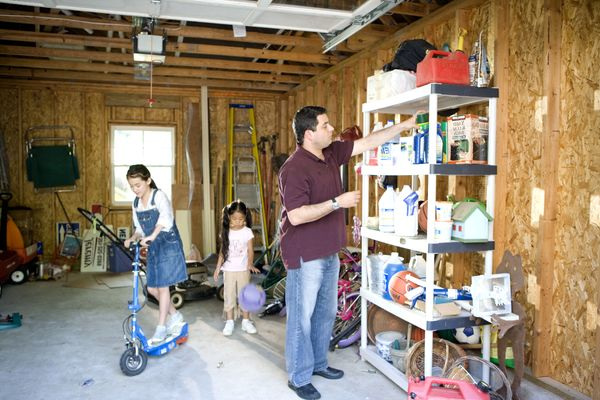 cleaning garage