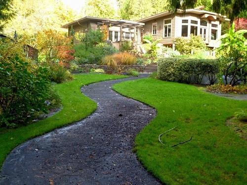 zigzag walkway landscape